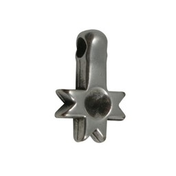 Cuenta DQ Pendent puntjes silver plating