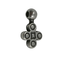 Cuenta DQ Pendent flower  16x9mm silver plating