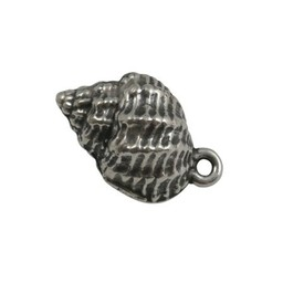 Cuenta DQ pendent sea shell silver plating