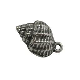 Cuenta DQ sieraden hanger Schelp Slakhuis zilverkleur
