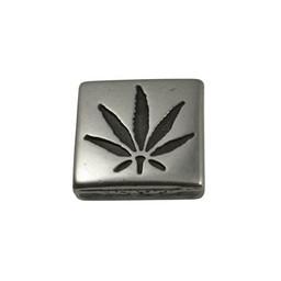 Cuenta DQ Metaal leerschuiver cannabis vierkant 13mm zilverkleur