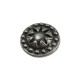 Cuenta DQ Ornament round 21mm silver plating
