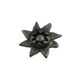 Cuenta DQ Ornament sun 33mm silver plating