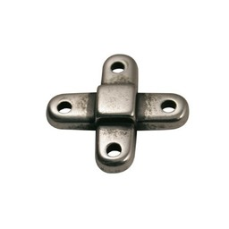 Cuenta DQ verbindings kruis zilverkleur
