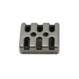 Cuenta DQ Metaal leerschuiver 10mm modern zilverkleur