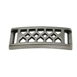 Cuenta DQ Armband mit Diamant Platte patern 37x10mm Versilberung