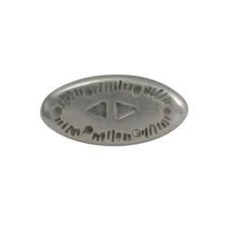Cuenta DQ rivet western 2-delig silver plating