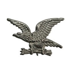 Cuenta DQ eagle buttonwith pin silver plating