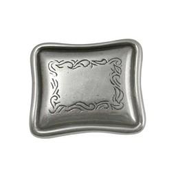 Cuenta DQ rivet western long silver plating