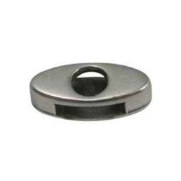 Cuenta DQ slider bead 10mm oval open silver plating