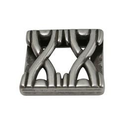 Cuenta DQ Metaal leerschuiver dubbel X 24x3mm zilver