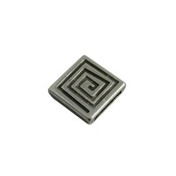 Cuenta DQ slider bead 13mm square. spiral