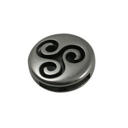 Cuenta DQ slider bead round 13mm kringel