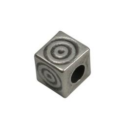 Cuenta DQ kraal 6mm vierkant spiraal
