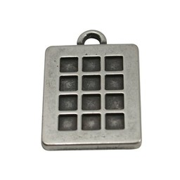 Cuenta DQ pendent 26x32mm square