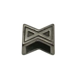 Cuenta DQ Metaal leerschuiver X zandloper 6mm
