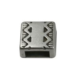 Cuenta DQ slider bead square  celtic edge 6mm