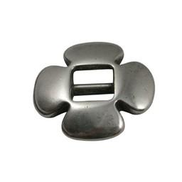 Cuenta DQ gesp schuiver 6mm clover zilver