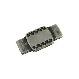 Cuenta DQ slider bead keltisch/ plaatje 25x12mm