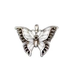 Cuenta DQ sieraden hanger vlinder 39x32mm zilverkleur
