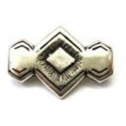 Cuenta DQ Rivet 29x20mm zilverkleur