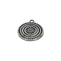 Cuenta DQ pendent Family 37mm silver