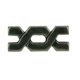 Cuenta DQ rivet bytes 29x9mm silver plating