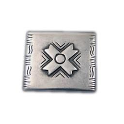 Cuenta DQ rivet X 34x30mm silver plating