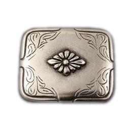 Cuenta DQ rivet flower 40x34mm silver plating