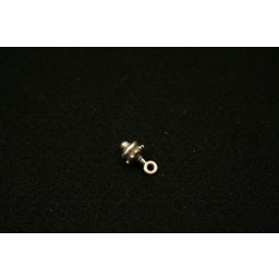 Cuenta DQ pendent tut 7mm silver plating
