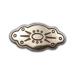 Cuenta DQ Rivet ovaal bloem 45mm zilverkleur