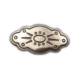 Cuenta DQ rivet oval flower 45mm silver plating