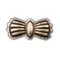 Cuenta DQ rivet bow 35mm silver plating