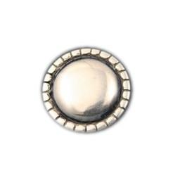 Cuenta DQ Rivet rond Glad 29mm zilverkleur