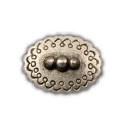 Cuenta DQ Rivet ovaal 25mm zilverkleur