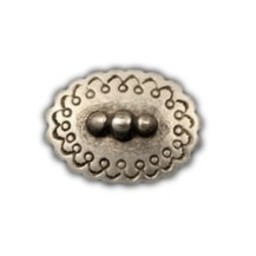 Cuenta DQ rivet oval 25mm silver plating
