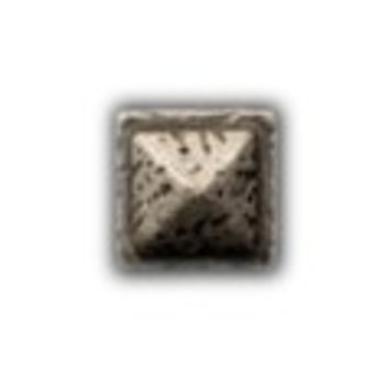 Cuenta DQ rivet square 9mm silver plating