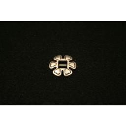 Cuenta DQ Slide buckle heart 6mm zilverkleur