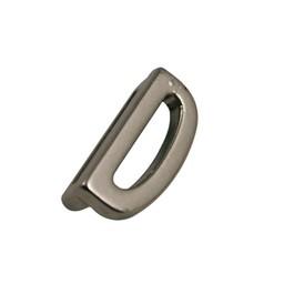 Cuenta DQ schiebe perle Metall alfabet 13mm Buchstaben: D