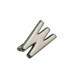 Cuenta DQ Metaal alfabet 13mm letter: W