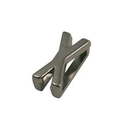 Cuenta DQ schiebe perle Metall alfabet 13mm Buchstaben: X