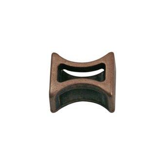 Cuenta DQ Metaal leerschuiver tussenstukje 6mm brons kleur.