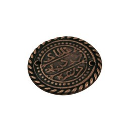 Cuenta DQ celtic coin 27mm copper plating.