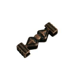 Cuenta DQ Leerschuiver Zand enkel copper plating.