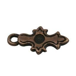 Cuenta DQ Keltisch kruisje brons kleur.