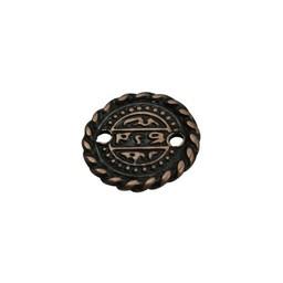 Cuenta DQ Munt klein 16mm brons kleur.