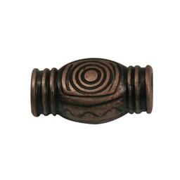 Cuenta DQ kraal metaal spiraal brons kleur.
