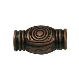 Cuenta DQ zamak bead spiral copper plating.
