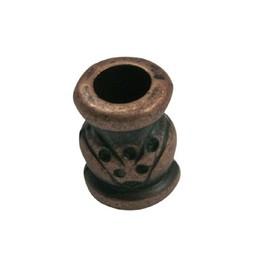 Cuenta DQ kraal metaal brons kleur.
