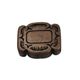 Cuenta DQ Plaatje 4 kant bewerkt brons kleur.